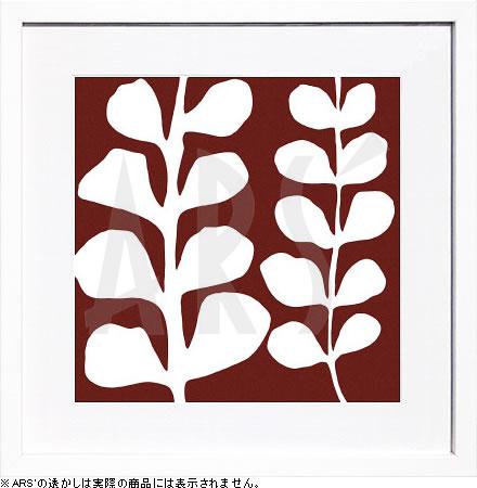 アートパネル アートポスター 絵画 インテリア ポスター タペストリー 壁掛け アートフレーム ウォールアート アートボード モダンアート モノトーン モノクロ アンティーク シンプル 北欧 おしゃれデニス デュプロック Maidenhair (white on red)