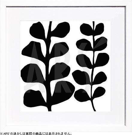 【絵画 アートパネル 壁掛け 専門店】アートフレーム/アートポスター モダンアート デニス・デュプロックMaidenhair (black on white)(アートパネル アートフレーム アートポスター 北欧 絵画 インテリア ポスター 壁掛け)【0824カード分割】