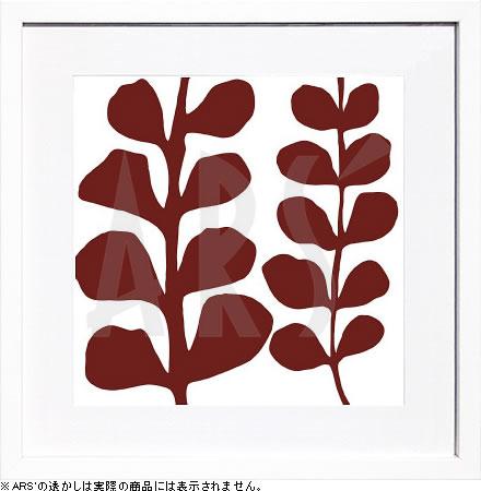 【絵画 アートパネル 壁掛け 専門店】アートフレーム/アートポスター モダンアート デニス・デュプロックMaidenhair (red on white)(アートパネル アートフレーム アートポスター 北欧 絵画 インテリア ポスター 壁掛け)【0824カード分割】