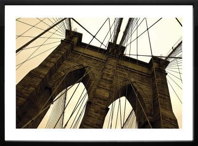 アートパネル アートポスター 絵画 インテリア ポスター タペストリー 壁掛け アートフレーム ウォールアート アートボード モダンアート モノトーン モノクロ アンティーク シンプル 北欧 おしゃれエリン クラーク Brooklyn Bridge II (sepia)