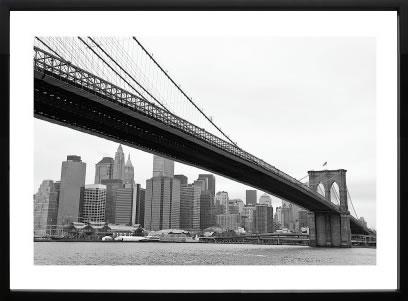 アートパネル アートポスター 絵画 インテリア ポスター タペストリー 壁掛け アートフレーム ウォールアート アートボード モダンアート モノトーン モノクロ アンティーク シンプル 北欧 おしゃれエリン クラーク Manhattan from Brooklyn