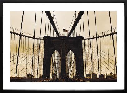 【絵画 アートパネル 壁掛け 専門店】アートフレーム/アートポスター エリン・クラークBrooklyn Bridge I(アートパネル アートフレーム アートポスター 北欧 絵画 インテリア ポスター 壁掛け)【0824カード分割】