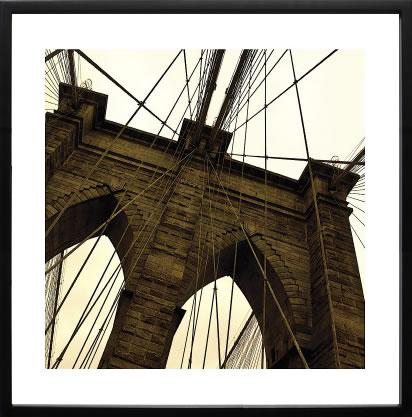 【絵画 アートパネル 壁掛け 専門店】アートフレーム/アートポスター エリン・クラークBrooklyn Bridge II (sepia)(アートパネル アートフレーム アートポスター 絵画 インテリア ポスター 壁掛け)【0824カード分割】