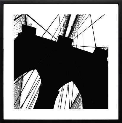 【絵画 アートパネル 壁掛け 専門店】アートフレーム/アートポスター エリン・クラークBrooklyn Bridge Silhouette(アートパネル アートフレーム アートポスター 絵画 インテリア ポスター 壁掛け)【0824カード分割】