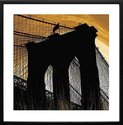 【絵画 アートパネル 壁掛け 専門店】アートフレーム/アートポスター エリン・クラーク Brooklyn Glow(アートパネル アートフレーム アートポスター 北欧 絵画 インテリア ポスター 壁掛け)【0824カード分割】
