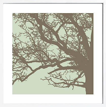 【絵画 アートパネル 壁掛け 専門店】アートフレーム/アートポスター エリン・クラーク Winter Tree III(アートパネル アートフレーム アートポスター 北欧 絵画 インテリア ポスター 壁掛け)【0824カード分割】