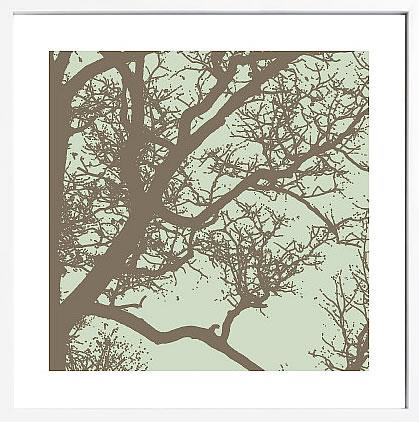 【絵画 アートパネル 壁掛け 専門店】アートフレーム/アートポスター エリン・クラーク Winter Tree IV(アートパネル アートフレーム アートポスター 北欧 絵画 インテリア ポスター 壁掛け)【0824カード分割】