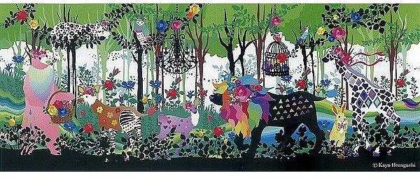 アートパネル アートポスター 絵画 タペストリー 壁掛け アートフレーム ウォールアート アートボード ファブリックパネル モノトーン モノクロ デザイナーズ アンティーク シンプル モダン 北欧 おしゃれNEW DESIGN CONCEPT ホラグチ カヨ(Kayo Horaguchi) promenade