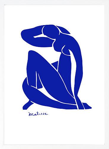 アートパネル アートポスター 絵画 インテリア ポスター タペストリー 壁掛け アートフレーム ウォールアート アートボード モダンアート ミッドセンチュリー アンティーク シンプル 北欧 モノトーン おしゃれアンリ マティス Blue Nude