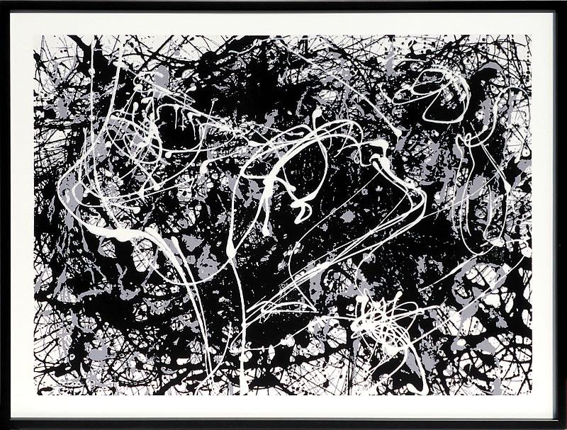 アートパネル アートポスター 絵画 インテリア ポスター タペストリー 壁掛け アートフレーム ウォールアート アートボード モダンアート モノトーン モノクロ アンティーク シンプル 北欧 おしゃれジャクソン ポロック Number33,1949