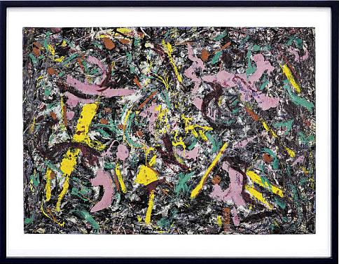 アートパネル アートポスター 絵画 インテリア ポスター タペストリー 壁掛け アートフレーム ウォールアート アートボード モダンアート モノトーン モノクロ アンティーク シンプル 北欧 おしゃれジャクソン ポロック Unformed Figure, 1953
