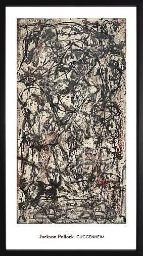 アートパネル アートポスター 絵画 インテリア ポスター タペストリー 壁掛け アートフレーム ウォールアート アートボード モダンアート モノトーン モノクロ アンティーク シンプル 北欧 おしゃれジャクソン ポロック Enchanted Forest,1947