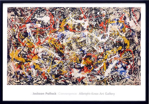 アートパネル アートポスター 絵画 インテリア ポスター タペストリー 壁掛け アートフレーム ウォールアート アートボード モダンアート モノトーン モノクロ アンティーク シンプル 北欧 おしゃれジャクソン ポロック Convergence