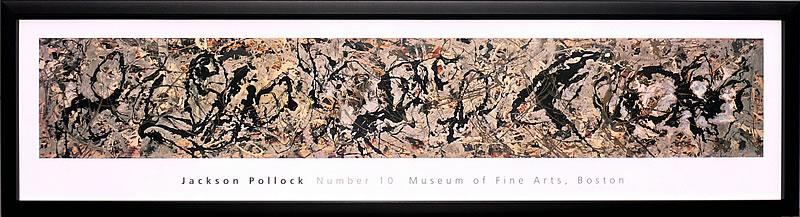 アートパネル アートポスター 絵画 インテリア ポスター タペストリー 壁掛け アートフレーム ウォールアート アートボード モダンアート モノトーン モノクロ アンティーク シンプル 北欧 おしゃれジャクソン ポロック Number10, 1949