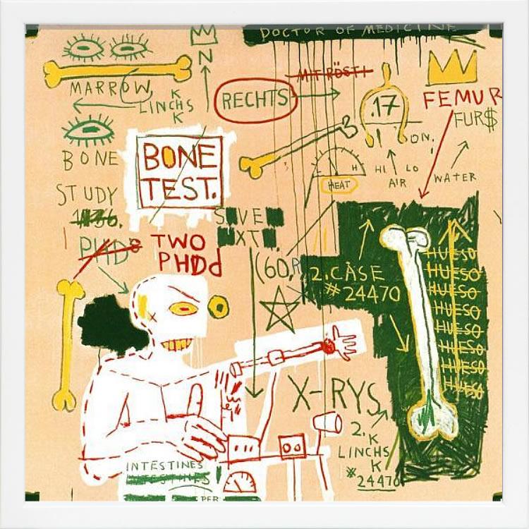 【絵画 アートパネル 壁掛け 専門店】アートフレーム/アートポスター ポップアート ジャン・ミシェル・バスキア Carbon dating System(アートパネル アートフレーム アートポスター 北欧 絵画 インテリア ポスター 壁掛け)【0824カード分割】