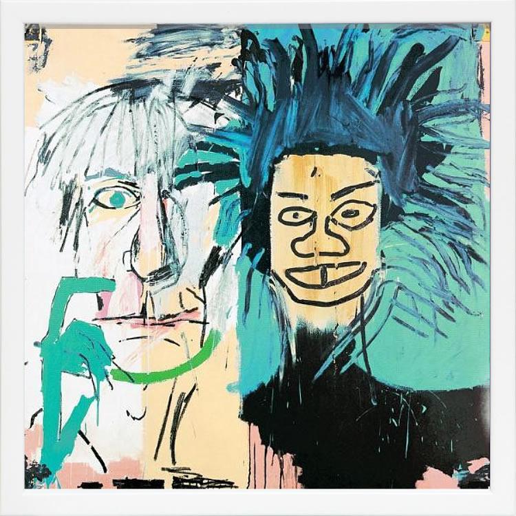 【絵画 アートパネル 壁掛け 専門店】アートフレーム/アートポスター ポップアート ジャン・ミシェル・バスキア Dos Cabezas(アートパネル アートフレーム アートポスター 北欧 絵画 インテリア ポスター 壁掛け)【0824カード分割】