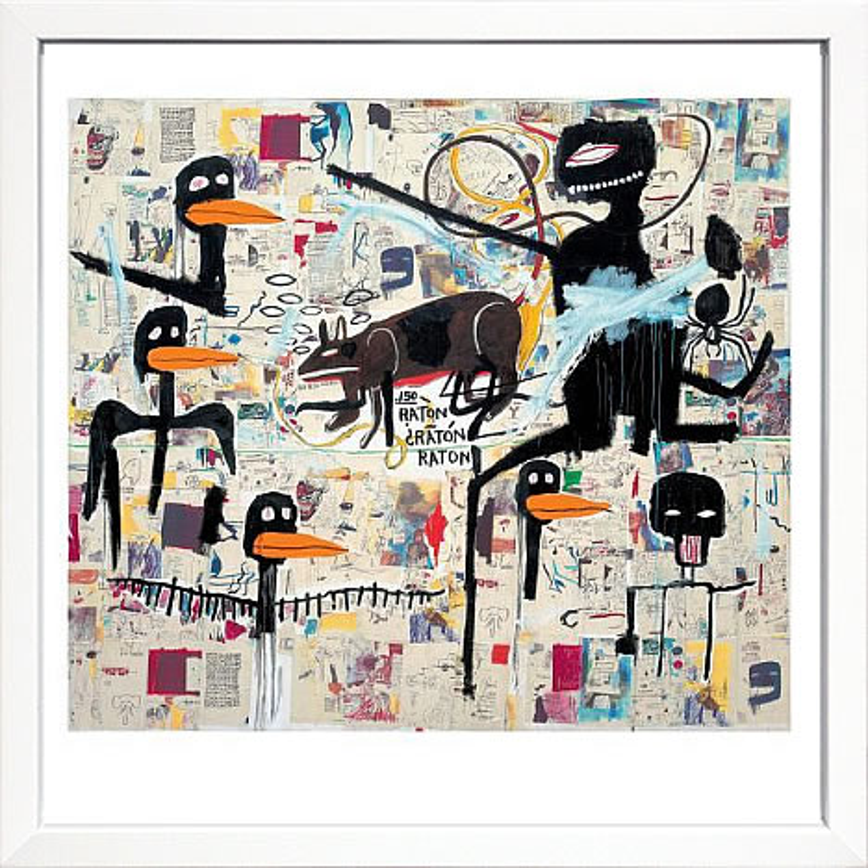 アートパネル アートポスター 絵画 インテリア ポスター タペストリー 壁掛け アートフレーム ウォールアート アートボード ポップアート モノトーン モノクロ デザイナーズ アンティーク シンプル モダン 北欧 おしゃれジャン ミシェル バスキア Tenor, 1985