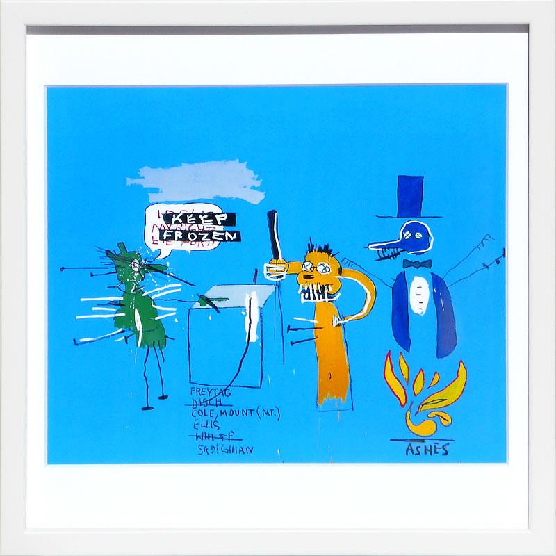 【絵画 アートパネル 壁掛け 専門店】アートフレーム/アートポスター ポップアート ジャン・ミシェル・バスキア The Dingoes(アートパネル アートフレーム アートポスター 北欧 絵画 インテリア ポスター 壁掛け)【0824カード分割】