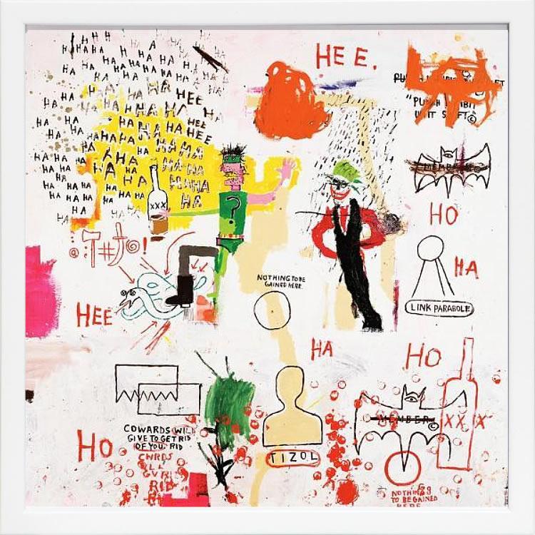【絵画 アートパネル 壁掛け 専門店】アートフレーム/アートポスター ポップアート ジャン・ミシェル・バスキア Riddle Me This, Batman(アートパネル アートフレーム アートポスター 北欧 絵画 インテリア ポスター 壁掛け)【0824カード分割】