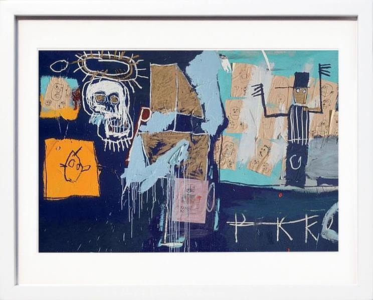 【絵画 アートパネル 壁掛け 専門店】アートフレーム/アートポスター ポップアート ジャン・ミシェル・バスキア Slave Auction(アートパネル アートフレーム アートポスター 北欧 絵画 インテリア ポスター 壁掛け)【0824カード分割】