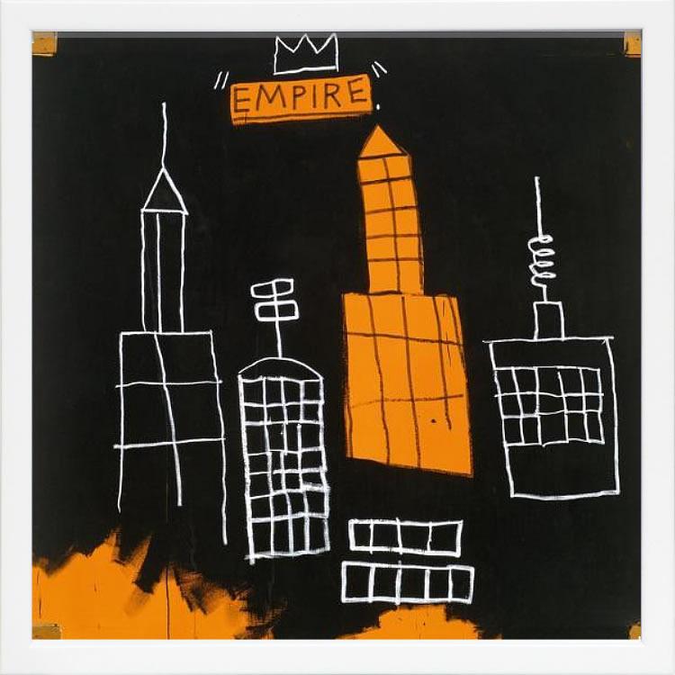 【絵画 アートパネル 壁掛け 専門店】アートフレーム/アートポスター ポップアート ジャン・ミシェル・バスキア Mecca(アートパネル アートフレーム アートポスター 北欧 絵画 インテリア ポスター 壁掛け)【0824カード分割】