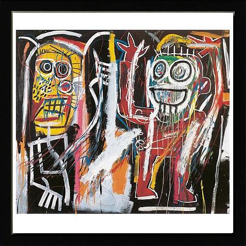 【絵画 アートパネル 壁掛け 専門店】アートフレーム/アートポスター ポップアート ジャン・ミシェル・バスキア Dustheads(アートパネル アートフレーム アートポスター 北欧 絵画 インテリア ポスター 壁掛け)【0824カード分割】