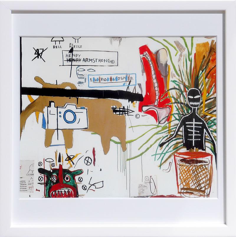 【絵画 アートパネル 壁掛け 専門店】アートフレーム/アートポスター ポップアート ジャン・ミシェル・バスキア Wicker(アートパネル アートフレーム アートポスター 北欧 絵画 インテリア ポスター 壁掛け)【0824カード分割】