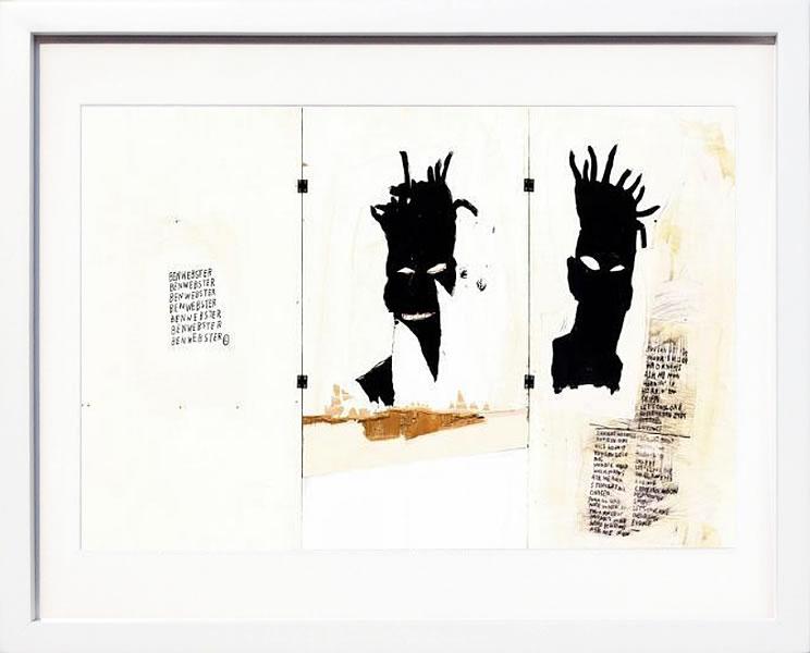 【絵画 アートパネル 壁掛け 専門店】アートフレーム/アートポスター ポップアート ジャン・ミシェル・バスキア Self-portrait(アートパネル アートフレーム アートポスター 北欧 絵画 インテリア ポスター 壁掛け)【0824カード分割】