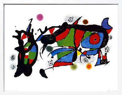 【絵画 アートパネル 壁掛け 専門店】アートフレーム/アートポスター モダンアート ジョアン・ミロObra de Joan Miro(アートパネル アートフレーム アートポスター 北欧 絵画 インテリア ポスター 壁掛け)