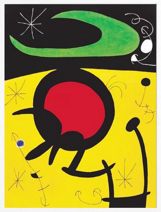【絵画 アートパネル 壁掛け 専門店】アートフレーム/アートポスター モダンアート ジョアン・ミロVuelo de Pajaros(アートパネル アートフレーム アートポスター 北欧 絵画 インテリア ポスター 壁掛け)