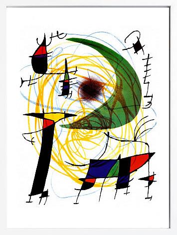 【絵画 アートパネル 壁掛け 専門店】アートフレーム/アートポスター モダンアート ジョアン・ミロ Lune Verte(アートパネル アートフレーム アートポスター 北欧 絵画 インテリア ポスター 壁掛け)