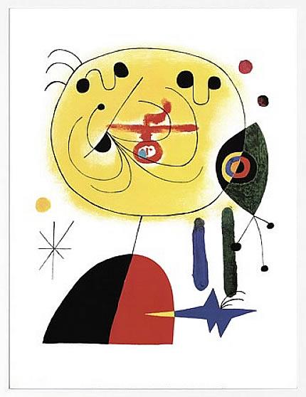 【絵画 アートパネル 壁掛け 専門店】アートフレーム/アートポスター モダンアート ジョアン・ミロEt Fixe Les Cheveux d'une Etoile(アートパネル アートフレーム アートポスター 絵画 インテリア ポスター 壁掛け)