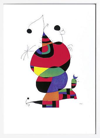 【絵画 アートパネル 壁掛け 専門店】アートフレーム/アートポスター モダンアート ジョアン・ミロHommage to Picasso(アートパネル アートフレーム アートポスター 北欧 絵画 インテリア ポスター 壁掛け)