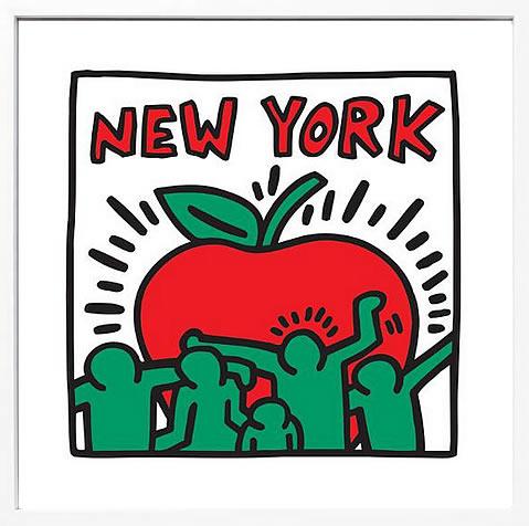 アートパネル アートポスター 絵画 インテリア ポスター タペストリー 壁掛け アートフレーム ウォールアート アートボード ポップアート インテリアアート モノトーン モノクロ アンティーク シンプル 北欧 おしゃれキース へリング New York
