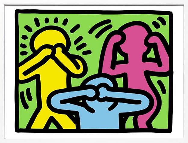 アートパネル アートポスター 絵画 インテリア ポスター タペストリー 壁掛け アートフレーム ウォールアート アートボード ポップアート インテリアアート モノトーン モノクロ アンティーク シンプル 北欧 おしゃれキース へリング Pop Shop