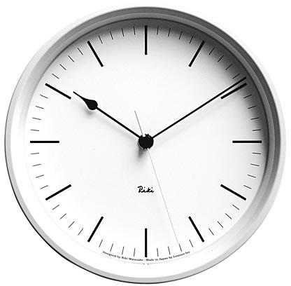 壁掛け時計 掛け時計 ウォールクロック Lemnos レムノス 渡辺 力 RIKI STEEL CLOCK ホワイト(リキクロック) 電波時計ではありません おしゃれ シンプル 北欧 モダン デザイナーズ アンティーク 高級 かわいい インテリア ギフト プレゼント 贈答品 新築祝い