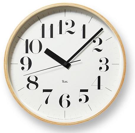 壁掛け時計 掛け時計 ウォールクロック Lemnos レムノス 渡辺 力 RIKI CLOCK RC(リキクロック 電波時計) おしゃれ シンプル 北欧 モダン デザイナーズ アンティーク 高級 かわいい インテリア ギフト プレゼント 贈答品 新築祝い