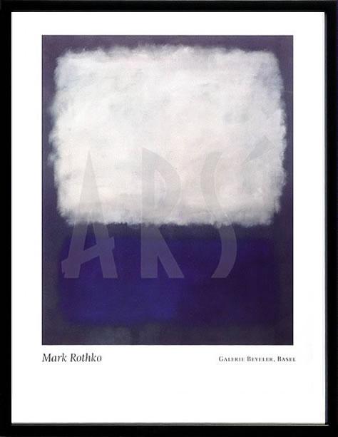アートパネル アートポスター 絵画 インテリア ポスター タペストリー 壁掛け アートフレーム ウォールアート アートボード モダンアート モノトーン モノクロ アンティーク シンプル 北欧 おしゃれマーク ロスコ Blue and Grey, c.1962
