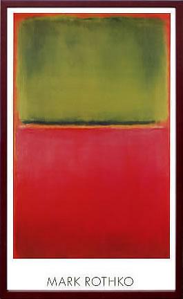 アートパネル アートポスター 絵画 インテリア ポスター タペストリー 壁掛け アートフレーム ウォールアート アートボード モダンアート モノトーン モノクロ アンティーク シンプル 北欧 おしゃれマーク ロスコ Green, Red, on Orange