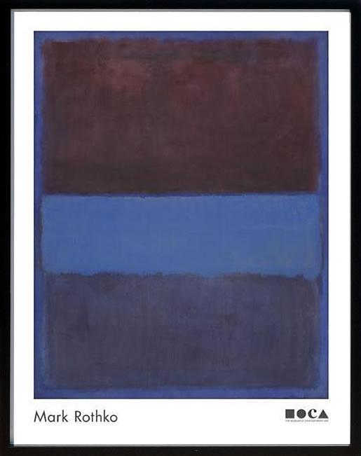 アートパネル アートポスター 絵画 インテリア ポスター タペストリー 壁掛け アートフレーム ウォールアート アートボード モダンアート モノトーン モノクロ アンティーク シンプル 北欧 おしゃれマーク ロスコ No. 61 (Brown, Blue, Brown on Blue)