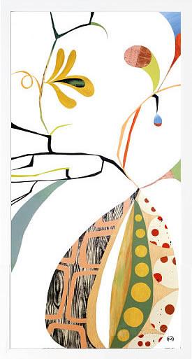 【絵画 アートパネル 壁掛け 専門店】アートフレーム/アートポスター メアリー・カルキンズFlora Botanica I(アートパネル アートフレーム アートポスター 北欧 絵画 インテリア ポスター 壁掛け)
