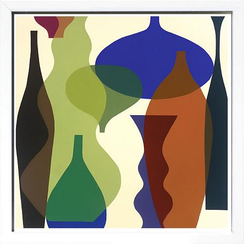 アートパネル アートポスター 絵画 インテリア ポスター タペストリー 壁掛け アートフレーム ウォールアート アートボード モダンアート モノトーン モノクロ アンティーク シンプル 北欧 おしゃれメアリー カルキンズ Floating Vases II