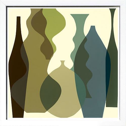 アートパネル アートポスター 絵画 インテリア ポスター タペストリー 壁掛け アートフレーム ウォールアート アートボード モダンアート モノトーン モノクロ アンティーク シンプル 北欧 おしゃれメアリー カルキンズ Floating Vases III