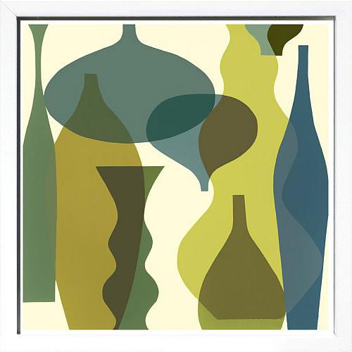 アートパネル アートポスター 絵画 インテリア ポスター タペストリー 壁掛け アートフレーム ウォールアート アートボード モダンアート モノトーン モノクロ アンティーク シンプル 北欧 おしゃれメアリー カルキンズ Floating Vases IV