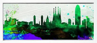 アートパネル アートポスター 絵画 インテリア ポスター タペストリー 壁掛け アートフレーム ウォールアート アートボード ポップアート モノトーン モノクロ デザイナーズ アンティーク シンプル モダン 北欧 おしゃれナックスアート バルセロナ