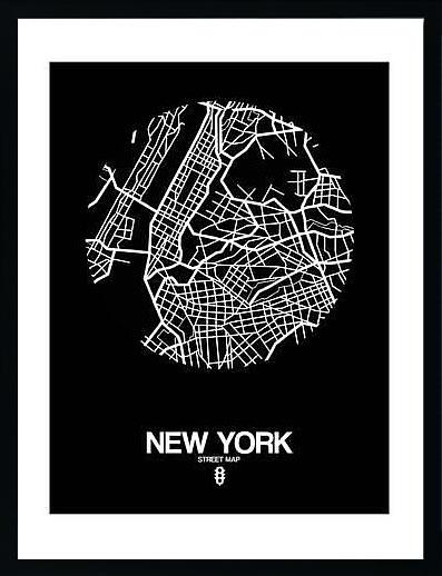 アートパネル アートポスター 絵画 インテリア ポスター タペストリー 壁掛け アートフレーム ウォールアート アートボード ポップアート モノトーン モノクロ デザイナーズ アンティーク シンプル モダン 北欧 おしゃれナックスアート ニューヨーク ストリートマップ