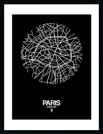 アートパネル アートポスター 絵画 インテリア ポスター タペストリー 壁掛け アートフレーム ウォールアート アートボード ポップアート モノトーン モノクロ デザイナーズ アンティーク シンプル モダン 北欧 おしゃれナックスアート パリ ストリートマップ