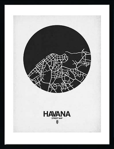 アートパネル アートポスター 絵画 インテリア ポスター タペストリー 壁掛け アートフレーム ウォールアート アートボード ポップアート モノトーン モノクロ デザイナーズ アンティーク シンプル モダン 北欧 おしゃれナックスアート ハバナ ストリートマップ