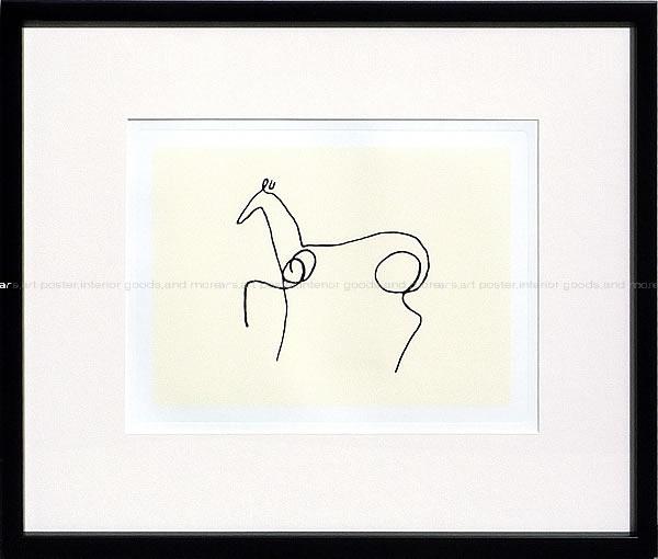 アートパネル アートポスター 絵画 インテリア ポスター タペストリー 壁掛け アートフレーム ウォールアート アートボード モダンアート モノトーン モノクロ アンティーク シンプル 北欧 おしゃれパブロ ピカソ Le cheval(Silkscreen)