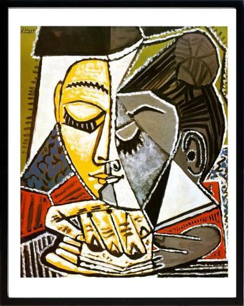 アートパネル アートポスター 絵画 インテリア ポスター タペストリー 壁掛け アートフレーム ウォールアート アートボード モダンアート モノトーン モノクロ アンティーク シンプル 北欧 おしゃれパブロ ピカソ 読書する女の顔